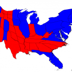 2012 election results scaled to number of electoral college votes.