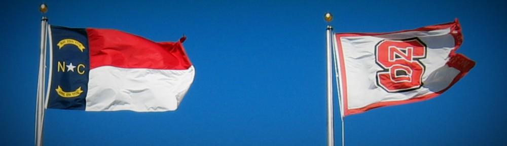 NC & NCSU Flags