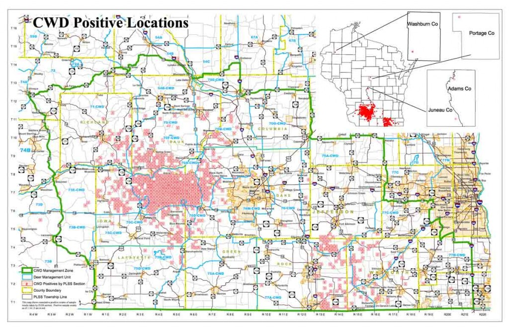WI CWD positive locations