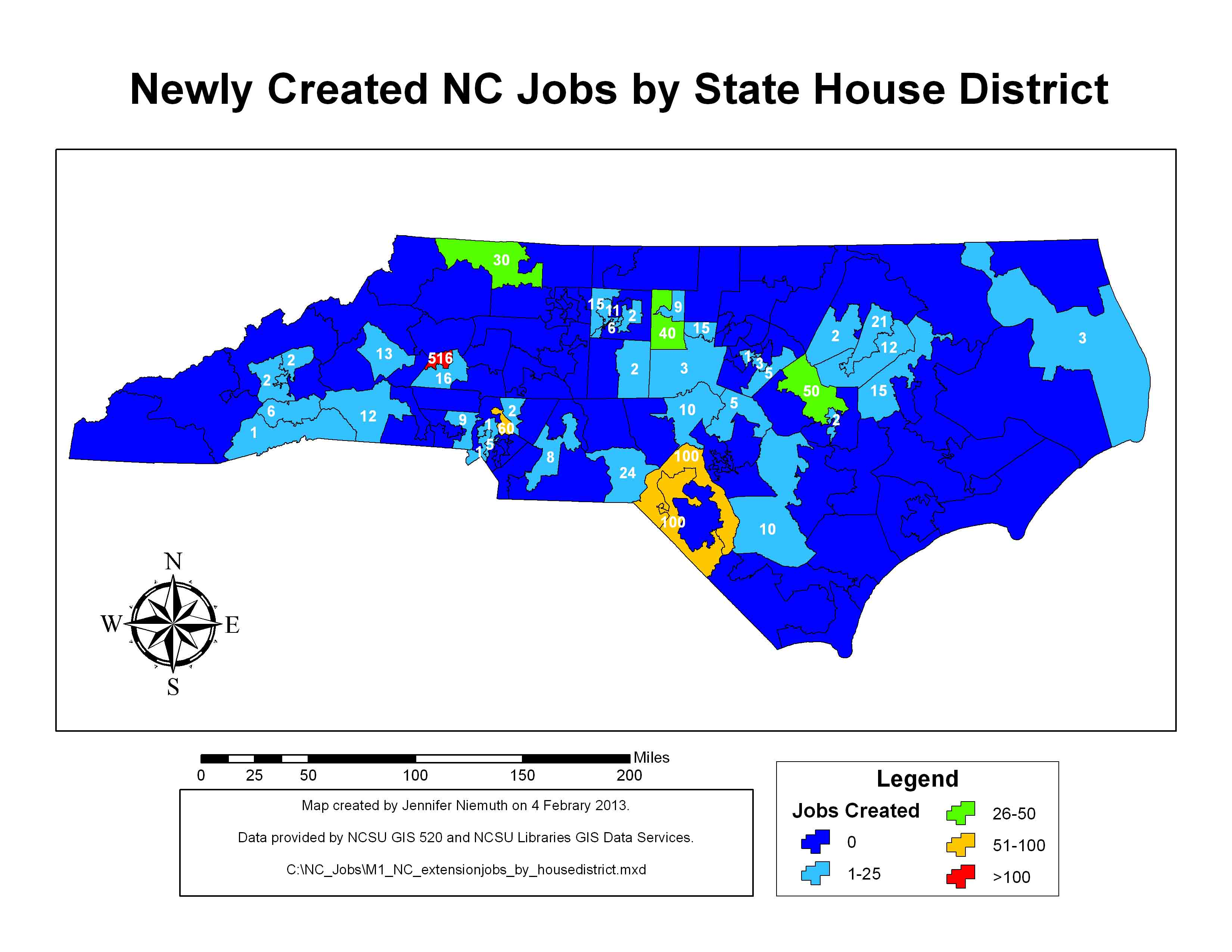 New jobs by house district