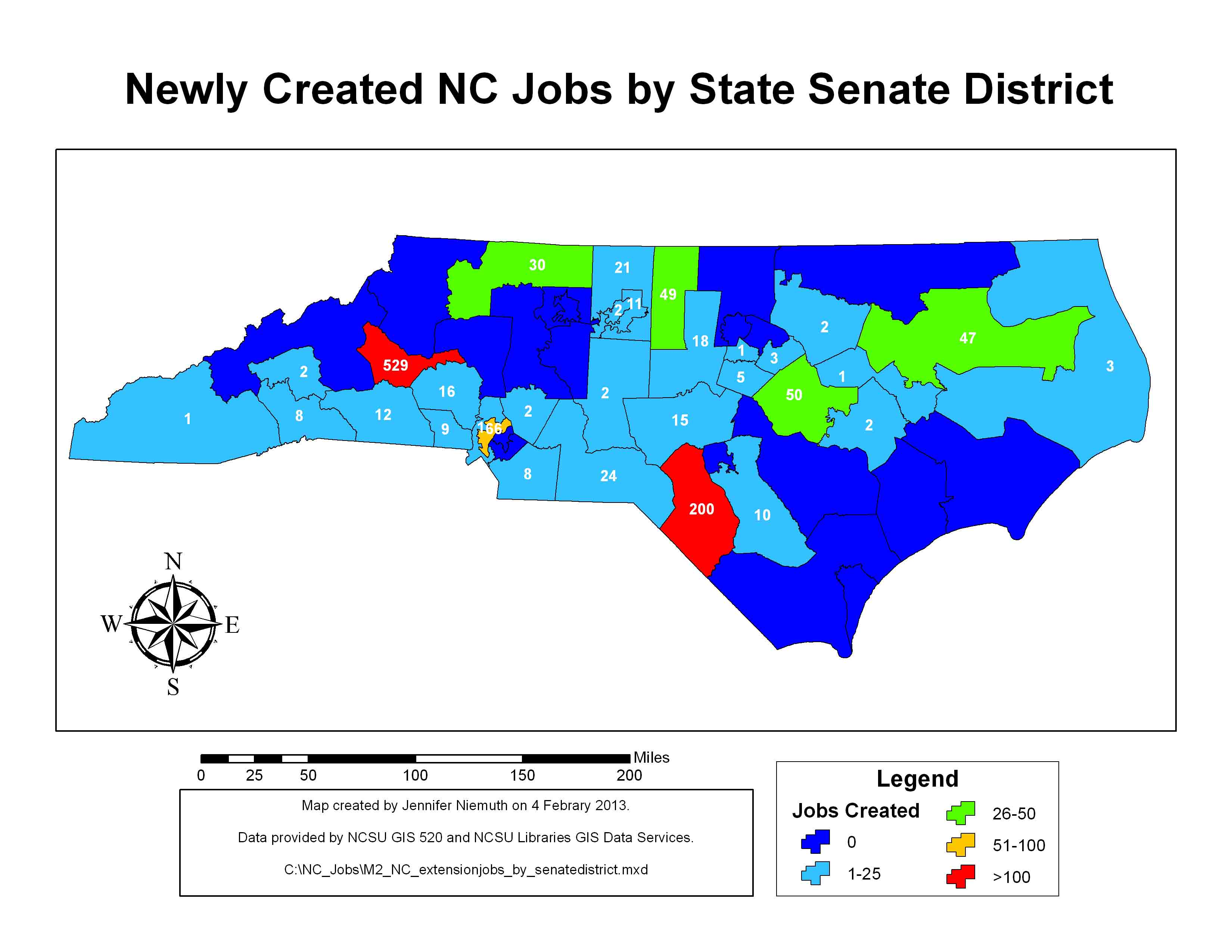 New jobs by state senate district